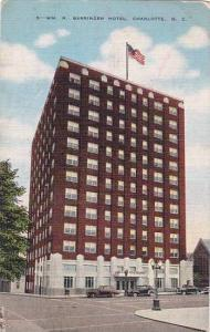 North Carolina Charlott Barringer Hotel 1950 Albertype