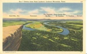 See 7 States from Point Lookout, Lookout Mountains, Tenne...