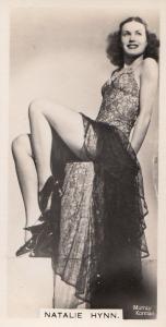Natalie Hynn Hollywood Actress Rare Real Photo Cigarette Card