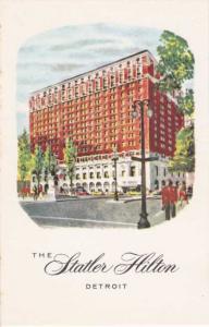 Statler Hilton Hotel Grand Circus Park at Washington Blvd Detroit MI Michigan