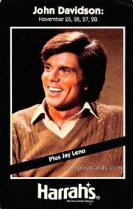 John Davidson, Harrah's Movie Star Actor Actress Film Star Postcard, Old...