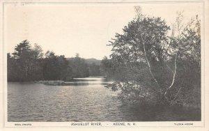 LPS95 Keene New Hampshire Ashuelot River Postcard RPPC
