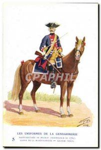Old Postcard The uniforms of the gendarmerie MArechausee Guard Raiments 1769 ...