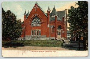Cambridge Ohio~Presbyterian Church~Crooked Steps~c1910 Postcard
