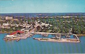 Air View Showing Dunedin Marina Dunendin Florida 1940