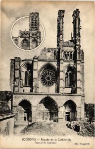 CPA  Militaire - Soissons - Facede de la Cathedrale  (695182)