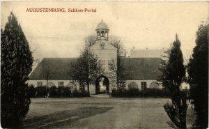 CPA AK AUGUSTENBURG Schloss Portal DENMARK (564845)