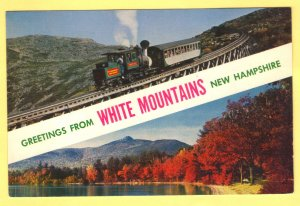 GREETING FROM WHITE MOUNTAINS NEW HAMPSHIRE  SEE SCAN
