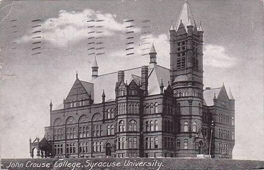 New York Syracuse John Crouse College 1912