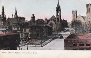 Iowa Des Moines Seven Church Spires