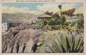 SANTA MONICA, California, 1900-1910's; Park and Palisades