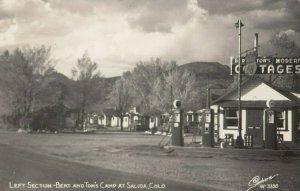 RP: SALIDA , Colorado , 1950 ; Phillips Gas Station , Bert & Tom's Camp