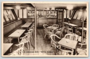 Steamship Royal Eagle~Cocktail Bar Smoking Room~General Steam Navigation~1930s