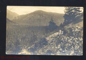 RPPC EPHRATA WASHINGTON MOUNTAIN SCENE WITHROW WASH. REAL PHOTO POSTCARD