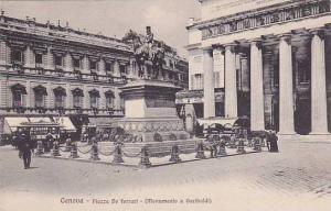 Piazza De Ferrari, Monumento a Garibaldi, Genova (Liguria), Italy, 1900-1910s