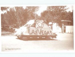 1970's POSTCARD SHOWING 1932 LAS VEGAS FLOAT IN PARADE Las Vegas NV E8728-22
