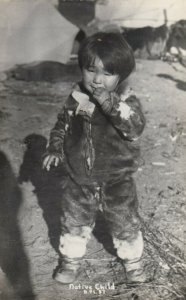 RP: Native Child , Alaska , 1930s
