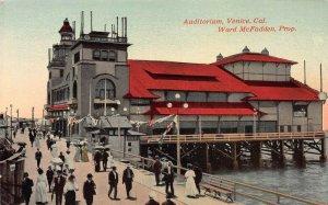 Auditorium, Venice, California, (Ward McFadden Prop.) early postcard, unused