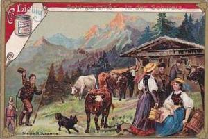 Liebig Vintage Trade Card S490 Mountain People I  1896 No 3 Schweiz