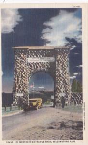 Northern Entrance Arch Yellowstone National Park Curteich