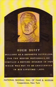 Hugh Duffy Baseball Hall Of Fame & Museum Cooperstown New York