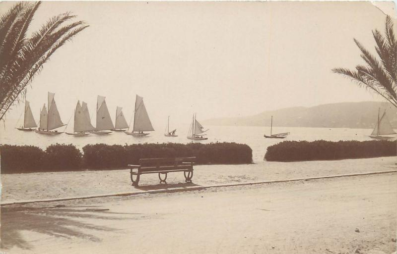 Photo postcard place to identify sailing vessels