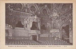 Monaco Monte Carlo Vue interieure du Theatre