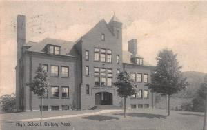 High School, Dalton, Massachusetts, Early Postcard, Used in 1908