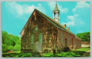 Winston Salem North Carolina~Bethabara Moravian Church Building~Vintage Postcard