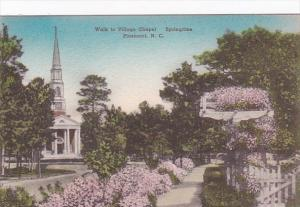 North Carolina Pinehurst Walk To Village Chapel In Springtime Handcolored Alb...