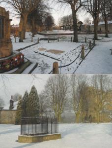 Knaresborough Castle Grounds in Winter Snow 2x Large Postcard s
