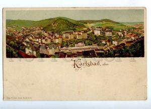192674 CZECH Karlovy Vary KARLSBAD Vintage litho postcard