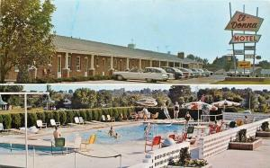 Eldon Missouri~White Convertible @El Donna Motel & Swimming Pool 1950