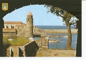 Postal 031558 : Collioure. Vue sur le port et leglise Saint Vincentm depuis l...