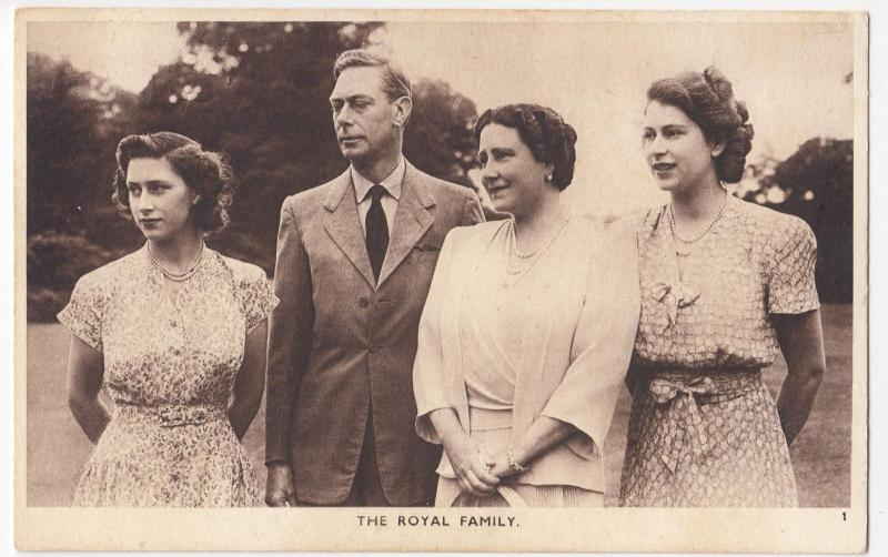 Royalty; The Royal Family PPC By Photochrom, c 1950, George VI, Unused