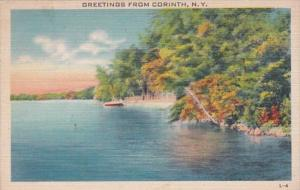 New York Greetings From Corinth 1945