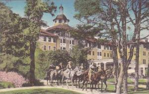 North Carolina Pinehurst Riders Leaving Carolina Hotel Albertype