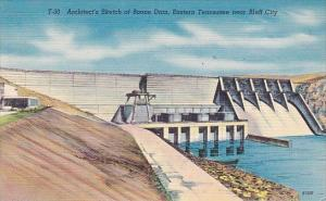 Architects Sketch Of Boone Dam Eastern Tennessee Near Bluff City Tennessee
