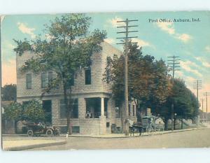 Divided-Back POST OFFICE SCENE Auburn Indiana IN d8990
