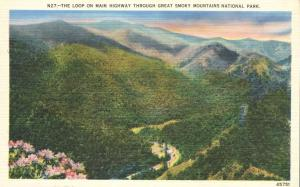 The Loop on Main Highway - Great Smoky Mountains TN, Tennessee - Linen