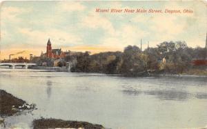 Dayton Ohio~Miami River (near Main Street)~Smoking Stack-Bridge-Church? Bknd~'12