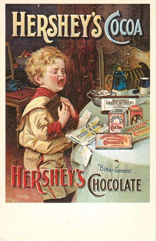 Hershey Park Foods Corp Postcard PA Pennsylvania Reproduction Advertisement 1900