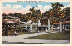 D72/ Erie Pennsylvania Postcard c1910 Entrance Walameer Amusement Park Coaster