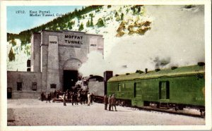 The First MC Oil Burning EngineTrain Railroad In The White Mountains NH Postcard