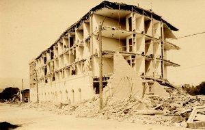 CA - Santa Barbara, 1925 Earthquake. The Californian Hotel Ruins   *RPPC