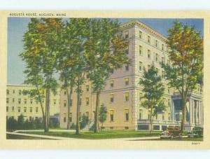 Unused Linen AUGUSTA HOUSE HOTEL Augusta Maine ME hr7197
