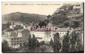 Old Postcard Royat les Bains Vue Generale and Pardis