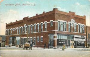 Madison SD~Hundemer Block~Post Office~Berlin Electric Theatre~Gamblers Fate~1912