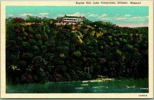 Hollister, Missouri Postcard Baptist Hill, Lake Taneycomo Curteich c1930s