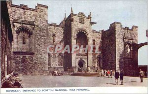 Modern Postcard Entrance to Edinburgh Scottish National War Memorial